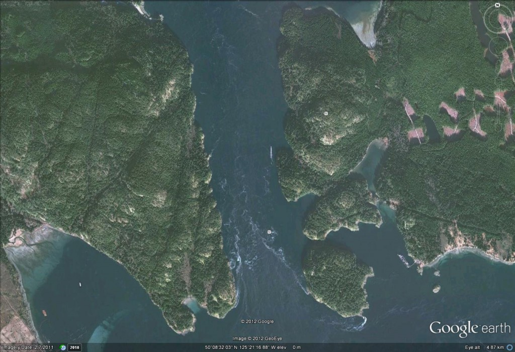 Seymour Narrows - Google Earth View