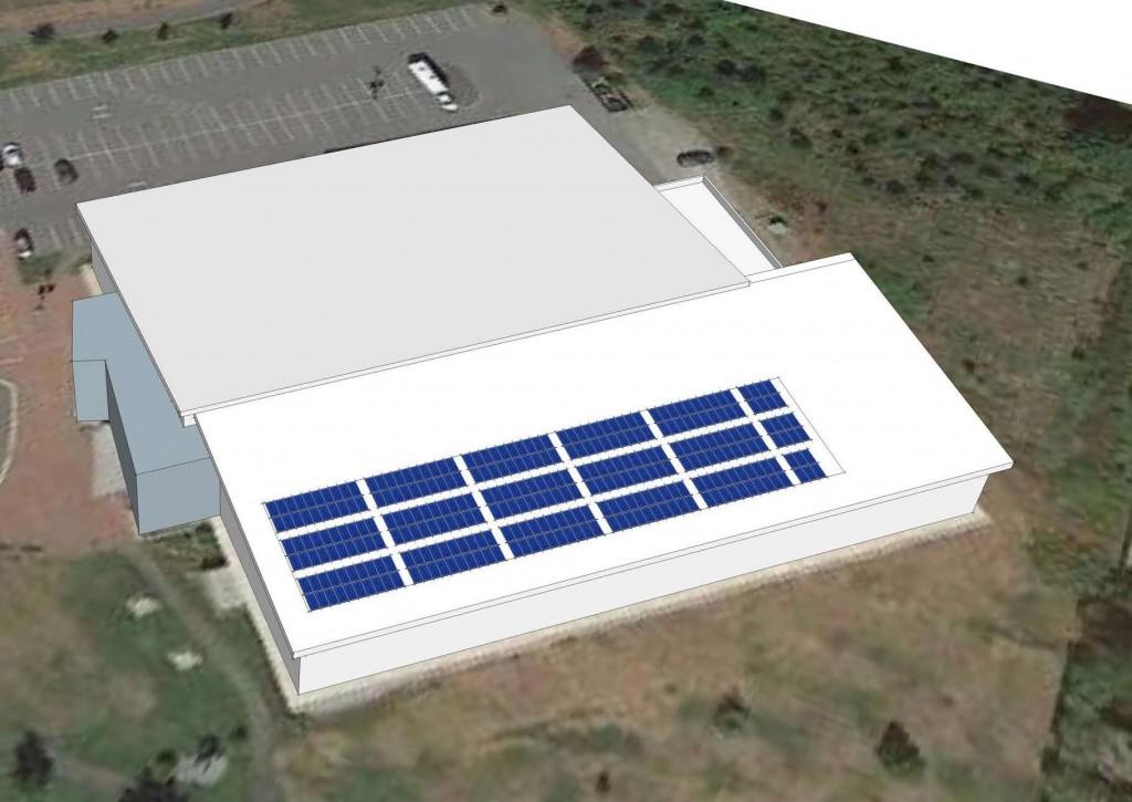 170206 NIC Solar PV Layout.L - Coplanar100kW