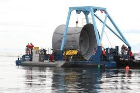 Ducted Tidal Turbine Test Installation at Race Rocks, BC